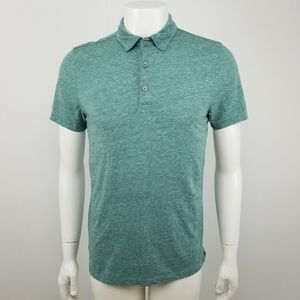 Banana Republic Heathered Green Short Sleeve Polo